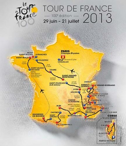 Ruta del Tour de Francia 2013